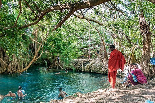 DAY TRIPS AND SHORT TOURS AROUND MOSHI, Tanzania - Kikuletwa hotsprings, Chemka, Maji Moto hot springs and Maasai village, cultural experience